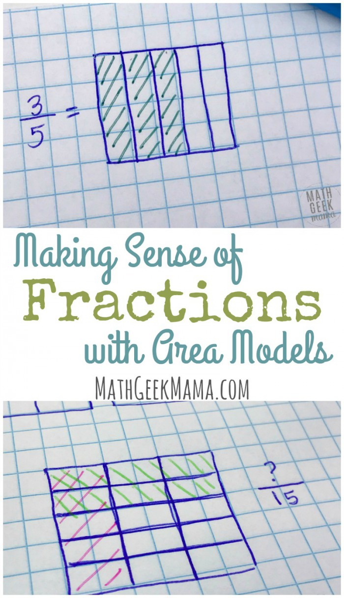 Area Models Fraction Products  Worksheets