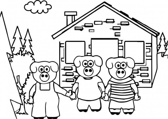 Awesome Keys To Literacy Three Little Pigs Coloring Page