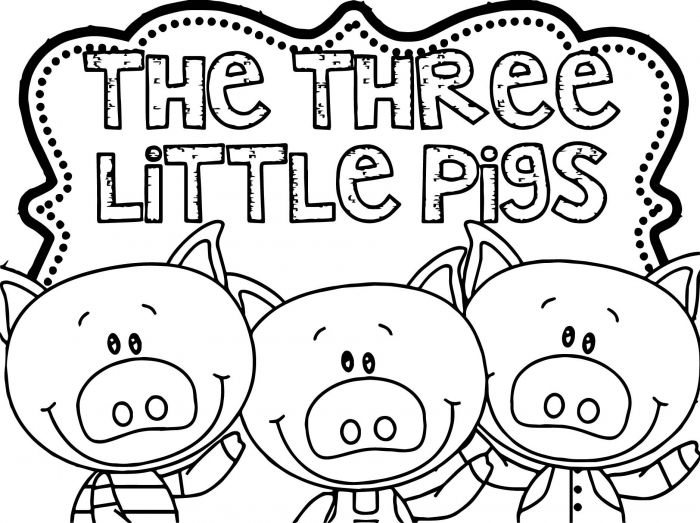 Awesome Three Little Pigs Coloring Page
