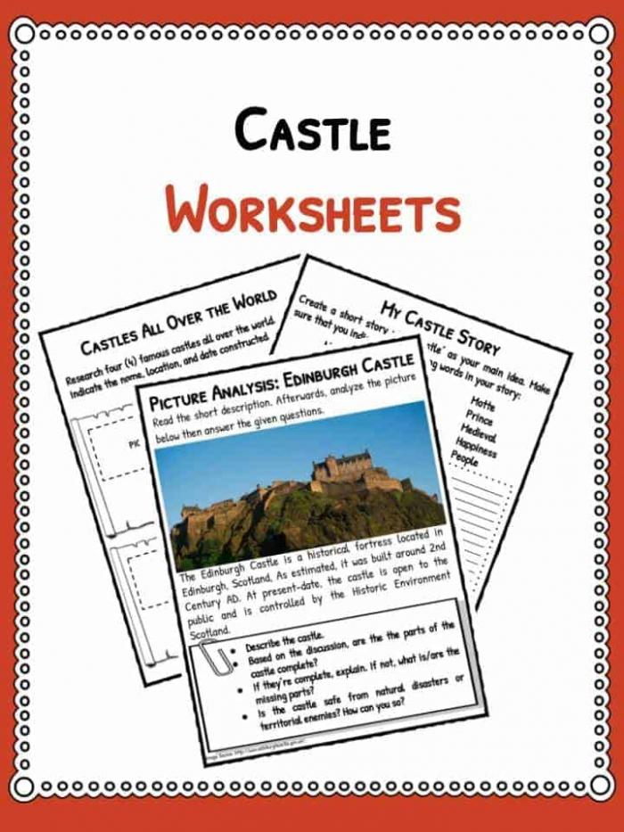 Castle Facts  Information   Worksheets For Kids