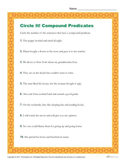 Choose The Sentence That Has A Compound Predicate
