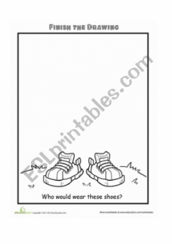 Finish The Drawing: Who Would Wear These Shoes?