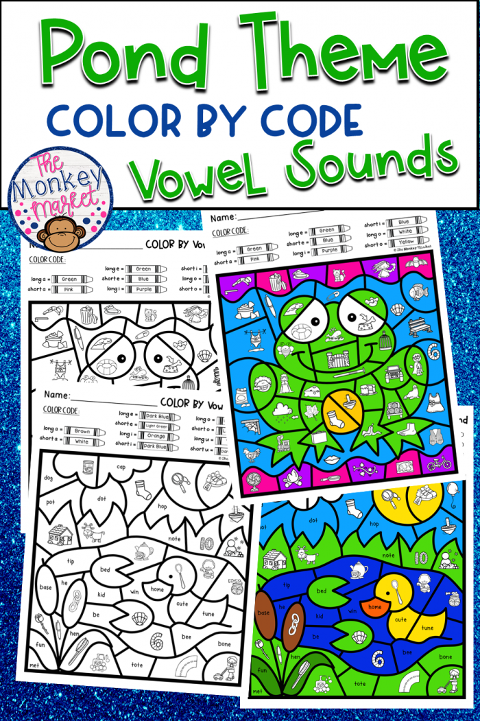 Color By Code Vowel Sounds