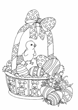 Easter Basket Coloring Sheet