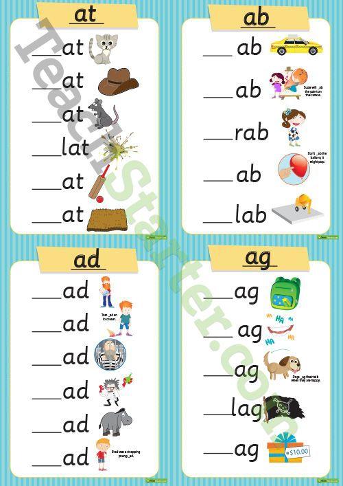 Consonant Vowel Consonant Cvc Words Teaching Resource