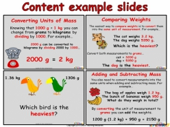 Units Of Measurement: Comparing And Converting