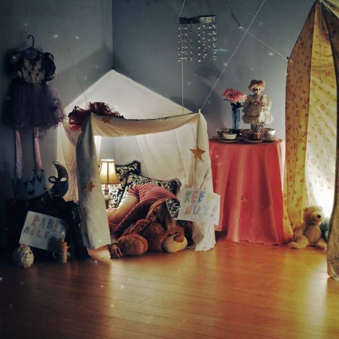 Cubby House Made With Sheets Awesome Fun Grab A Torch  Some