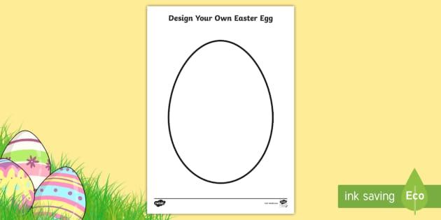 Design An Easter Egg A Template Teacher Made