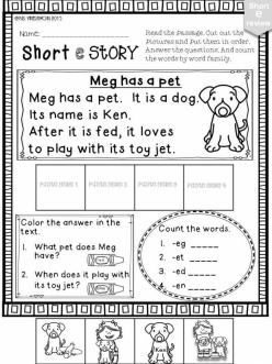 """Short """"E"""" Vowel"""