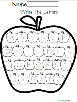 A Is For Apple! Practice Writing The Letter A