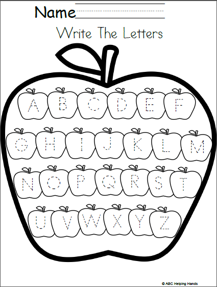 Editable Letter Writing Worksheet Apples Theme