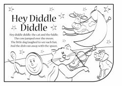 Nursery Rhyme Coloring: Diddle Diddle Dumpling