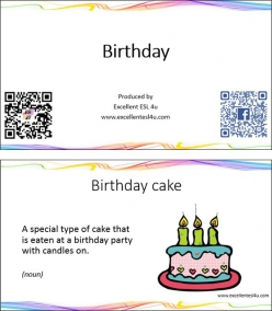 Adjectives And Nouns: Happy Birthday
