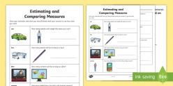 Estimate, Measure, And Compare