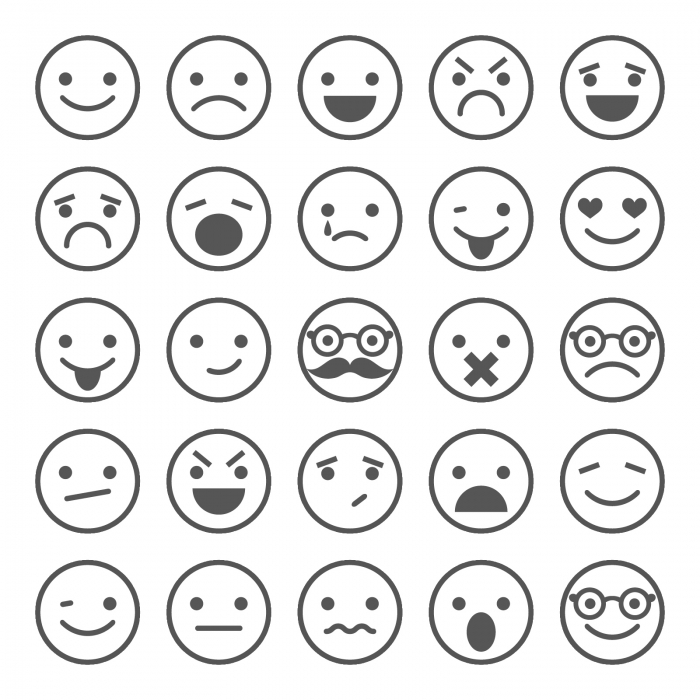 Feelings Clipart Black And Talking About Worksheets Free Emotions