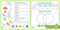 2-D Shapes: Fill In The Table