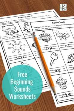 Beginning Sounds Coloring: Sounds Like Kite