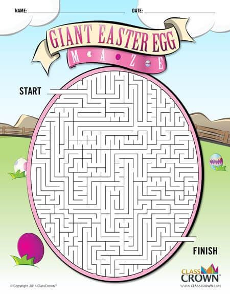Free Easter Egg Maze Download This Free Printable Maze At