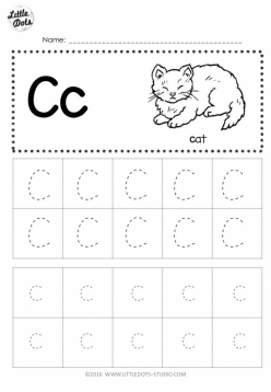 Trace And Write The Letter C