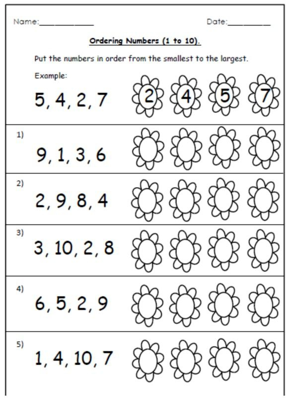 Free Ordering Worksheets And Number Cards