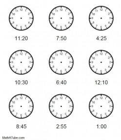 Draw The Hands Of The Clock II