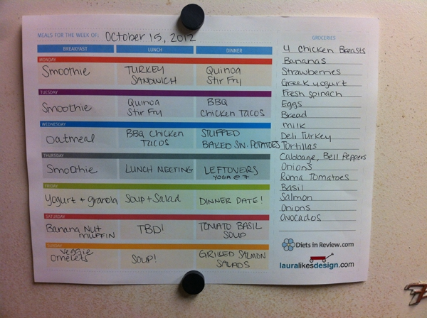 Free Weekly Meal Planner Worksheets To Organize Healthy Homemade