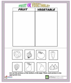 Cut-Out Graph: Vegetables