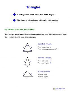 Three Types Of Triangles
