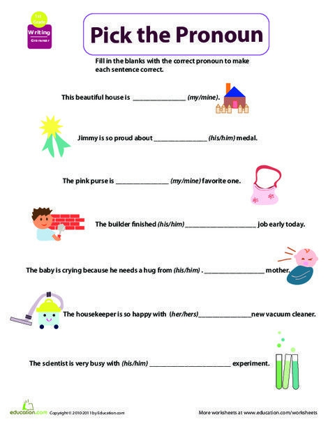 Get Into Grammar Pick The Pronoun