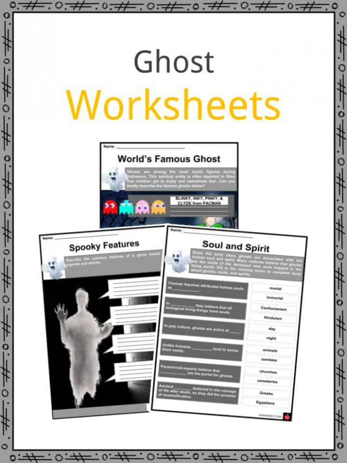 Ghost Facts  Worksheets  Folklore  Modern Culture   History For Kids