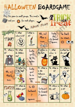 Halloween Board Game