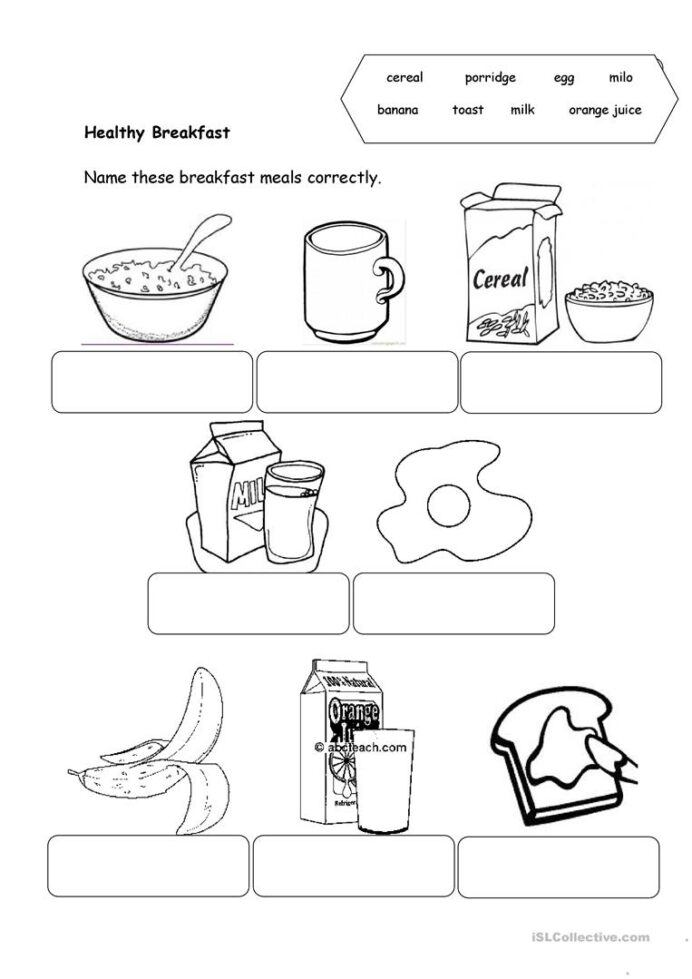 Healthy Food English Esl Worksheets For Distance Learning And