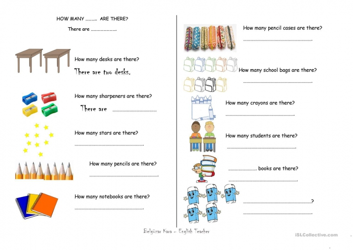 How Many Are There? Worksheets 99Worksheets