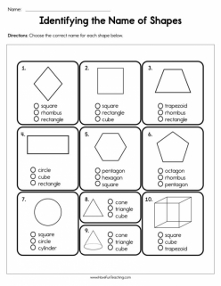 Identifying Shapes: Pentagons