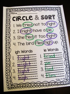 Circle And Sort: Long And Short /Oo/