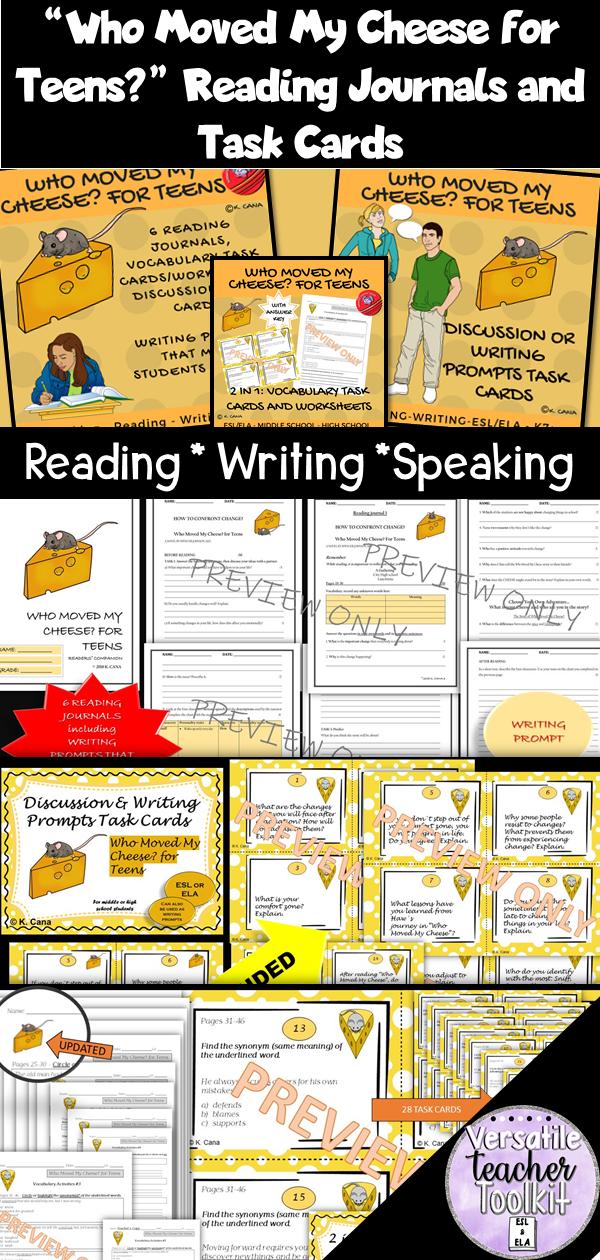 Journal Writing Task Cards  Worksheets