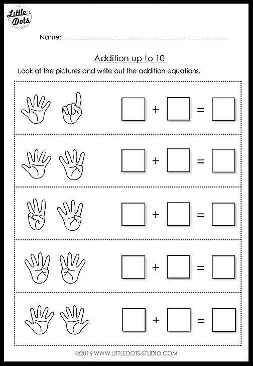 Preschool Addition #10 Worksheets 99Worksheets