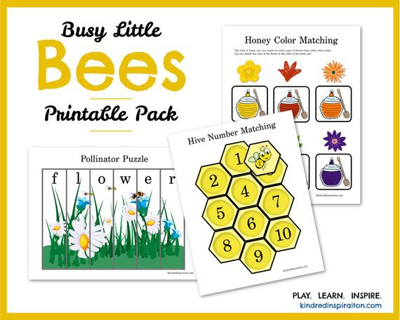 Learning Pack Busy Bees Toddler Busy Book Printable Quiet