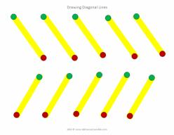 Prewriting Skills: Diagonal Lines 2