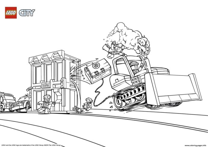 Lego City Catch The Crooks Coloring Printable Lego