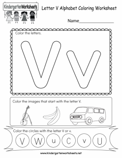Color The Letter V