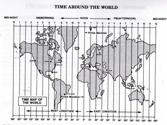 Longitude   Time Zone Worksheet