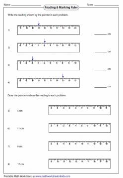 Ruler Reading: Centimeters