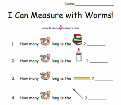 Measuring Worms