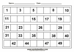 Spring Assessment: Writing Numbers To 50