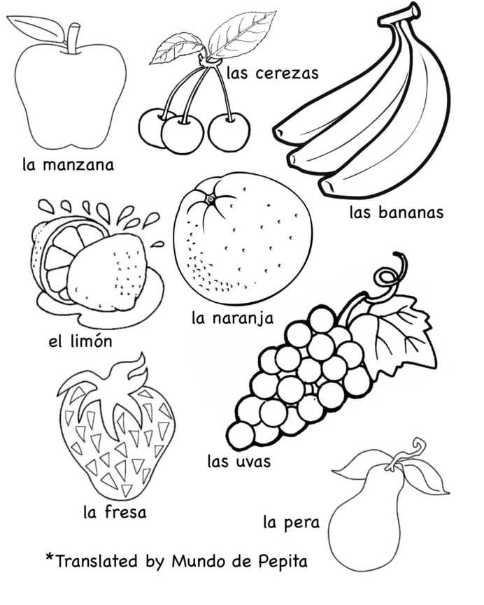 Multilingual Printables Fruits And Vegetables In Languages