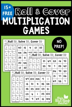 You Re On A Roll  Multiplication Game
