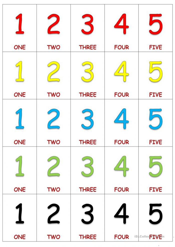 Numbers Card Game
