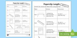 Paper Clip Measurement