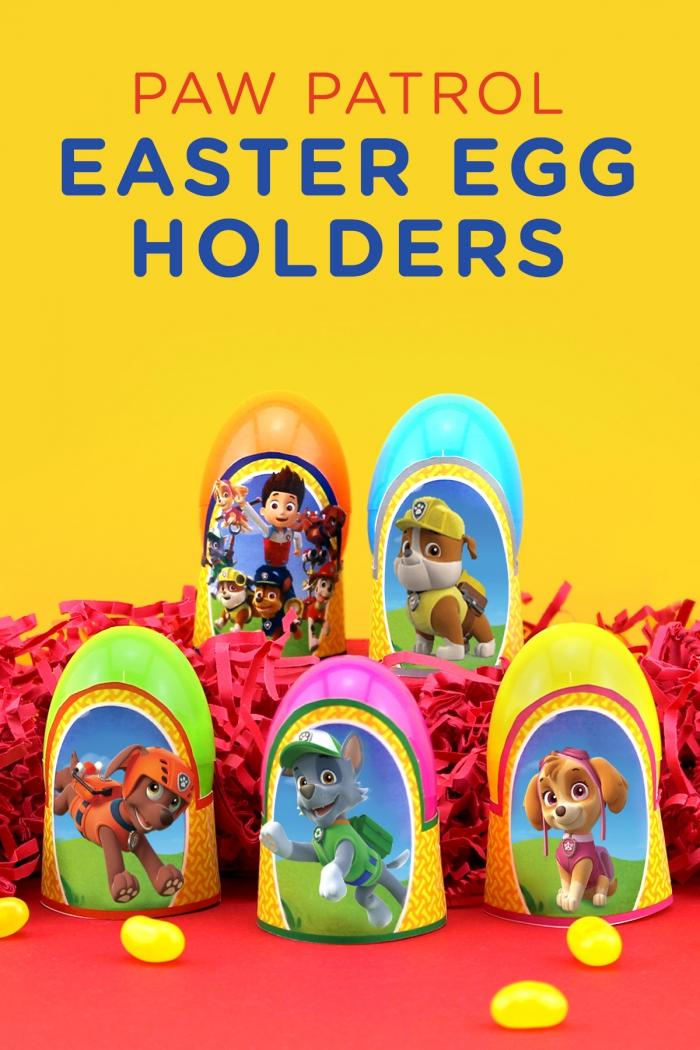 Paw Patrol Printable Easter Egg Holders